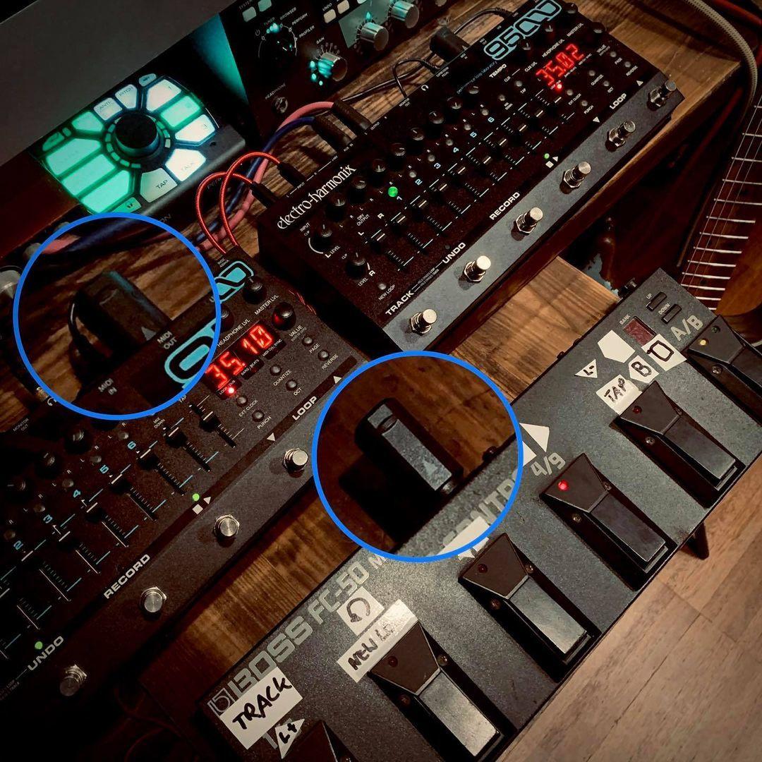 Wireless MIDI Guitar Pedals